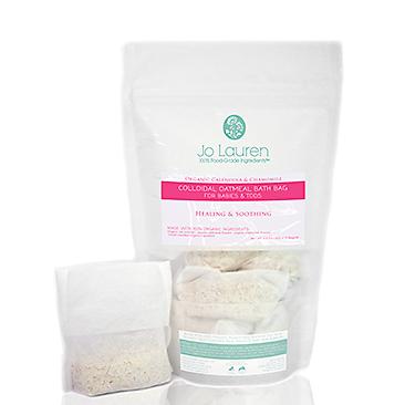 Jo Lauren Organic Calendula & Chamomile Colloidal Oatmeal Bath Bag