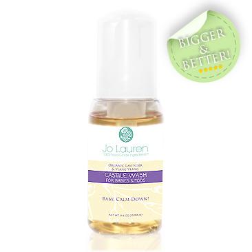 Jo Lauren Organic Lavender and Ylang Ylang Castile Wash