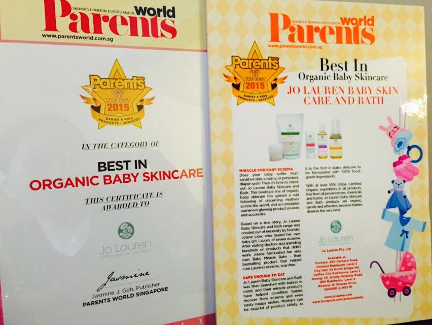 Best of the Best Organic Baby Skin care Award