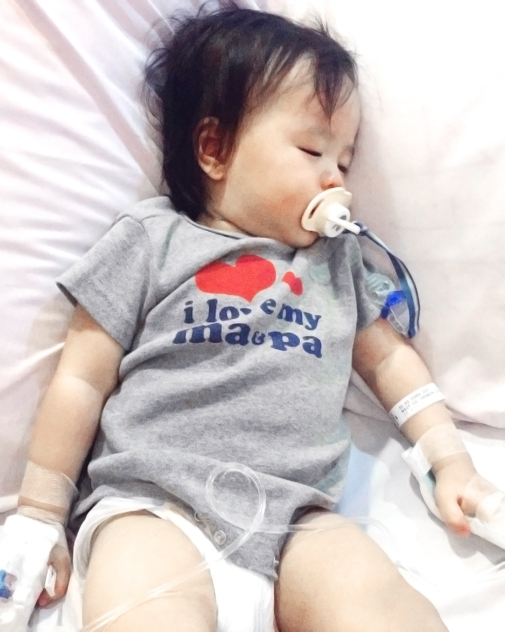 hospitalization stay for child in singapore thomson medical centre for bronchiolitis